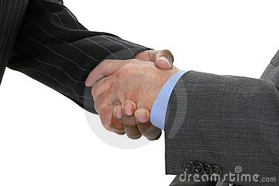 Close Up Businessmen Shaking Hands