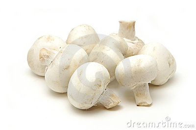 Close up of button mushrooms
