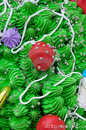 Close-up cake decorations