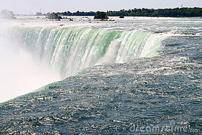 Close up of Canadian Horseshoe Falls- Niagara Falls