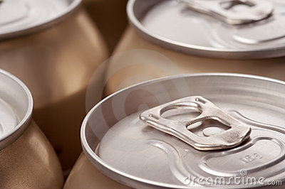 Close up of cans, landscape view