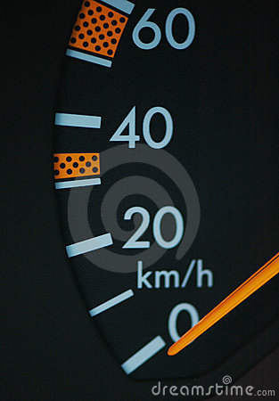 Close up of car speedometer se