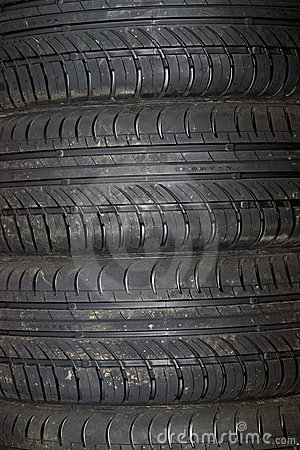 Close-up of car tire background