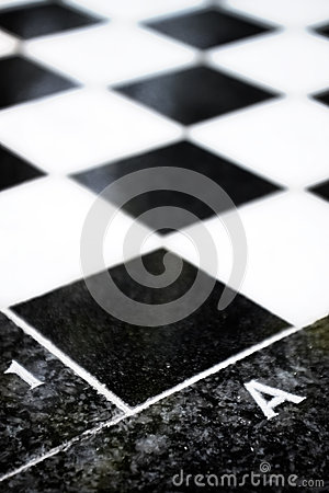 Close up of chess