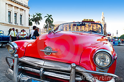 Close up of a classic vintage car in Havana Editorial Photography