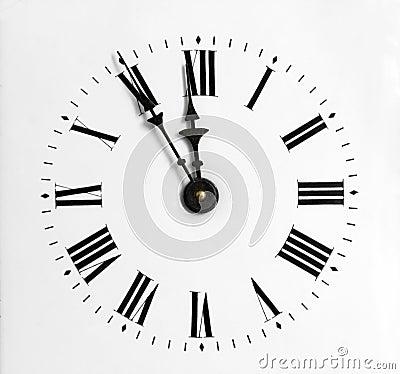 Close-up clock-face