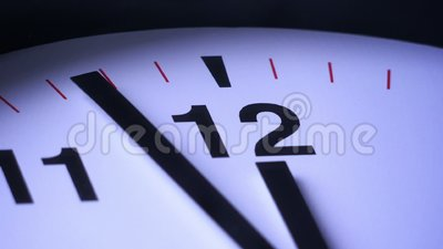 Close up of a clock ticking. Timelapse stock video footage