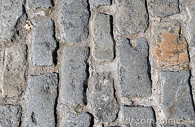Close up cobble stones