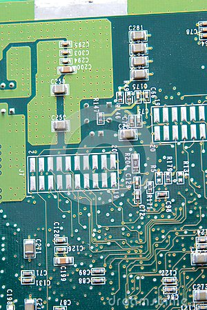 Close up of computer circuit board