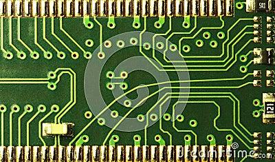 Close up of computer circuits