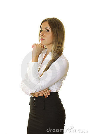 Close-up of a confident young businesswoman