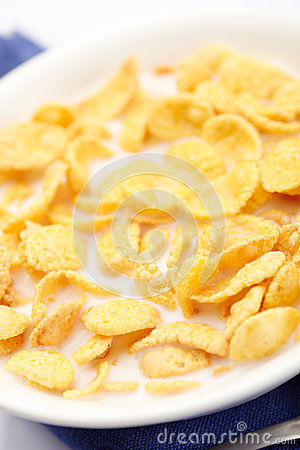 Close-up of a corn flakes