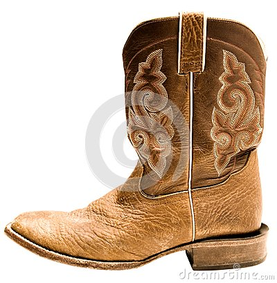 Close-up of cowboy boot