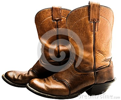 Close-up of cowboy boots