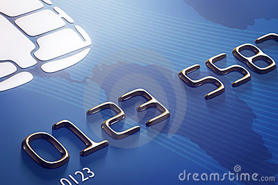 Close-up credit card (3d render)