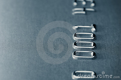 Close-up of credit card, shallow DOF