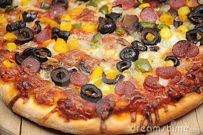 Close-up da pizza