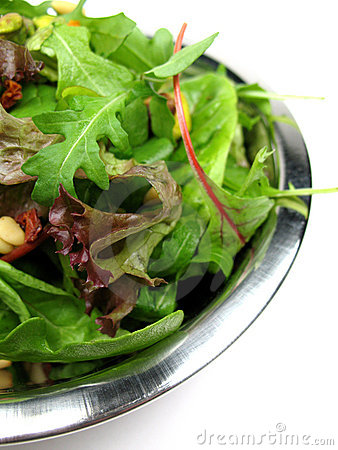 Close-up da salada