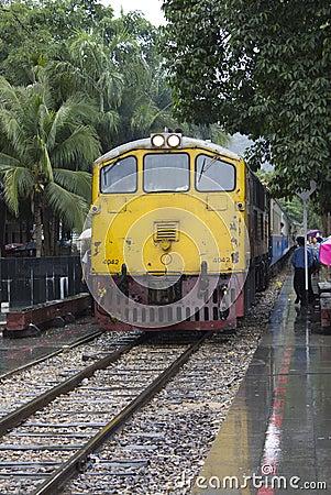 Close up of Death Bridge Train Editorial Photo