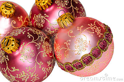 Close up decorative Christmas balls.