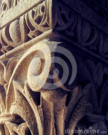 Free Close Up Detail Of An Intricate Carving In A Pillar Royalty Free Stock Photography - 119091267