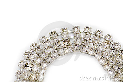 Close-up of diamond bracelet