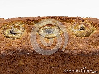Close up do pão de banana