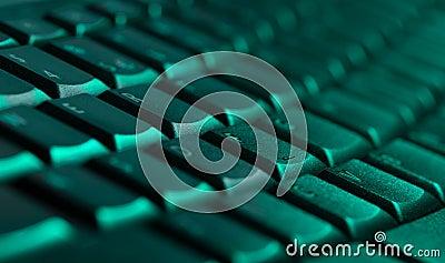 Close-up do teclado com espaço da cópia