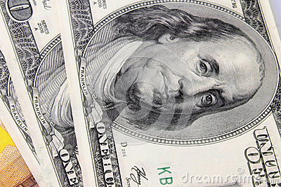 Close up of dollar bill