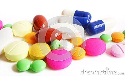 Close up of drug