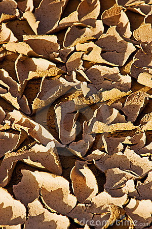 Close-up of dry desert earth