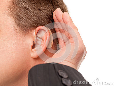 I can t hear you using hearing aid