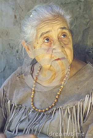 Close-up of elderly Native American woman Editorial Image