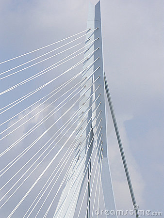 Close up of the  Erasmus bridge Editorial Photo