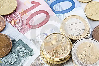Close-up of Euro