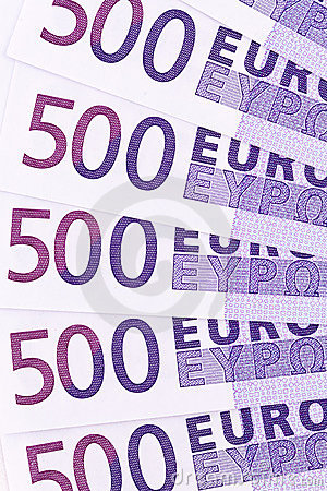 Close-up of a euro banknote