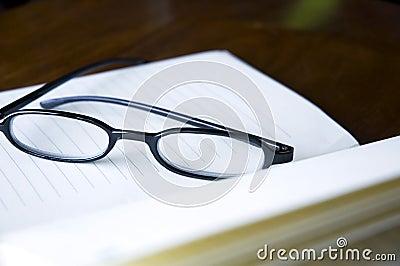 Close up eyeglasses