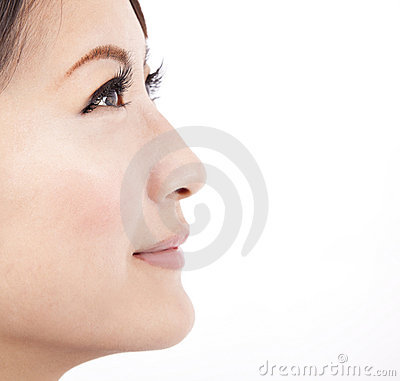 Close up face of a beauty  asian woman