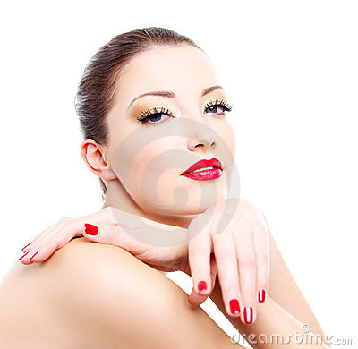 Free Close-up Face Of A Sensuality  Woman Stock Image - 12199191