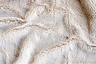 Close up of faux fur