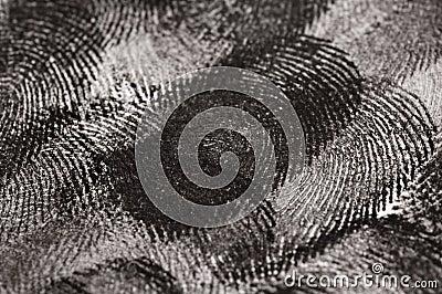 Close up of Fingerprints
