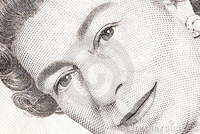 Close up of a five pound note Editorial Photo