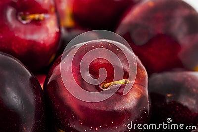 Close-up fresh delicious plum