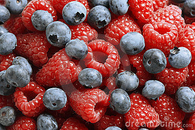 Close-up of fresh mixed berries