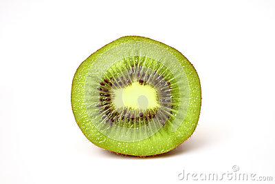 Close up fresh piece kiwi fruit