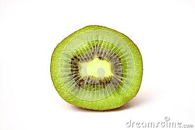 Close up fresh piece kiwi fruit