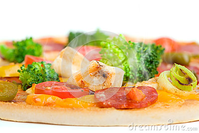 Close-up of fresh pizza