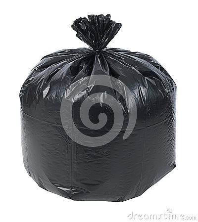Close up of a garbage bag