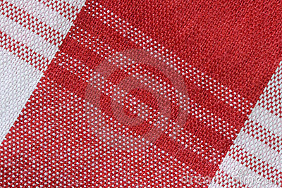 Close-Up of Gingham Fabric