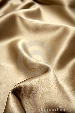 Close up of gold silk cloth